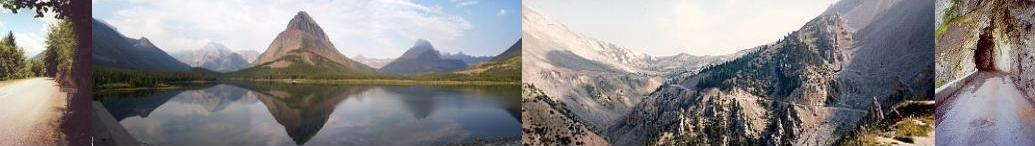 Outdoor shots from French Alps and one from Glacier National Park